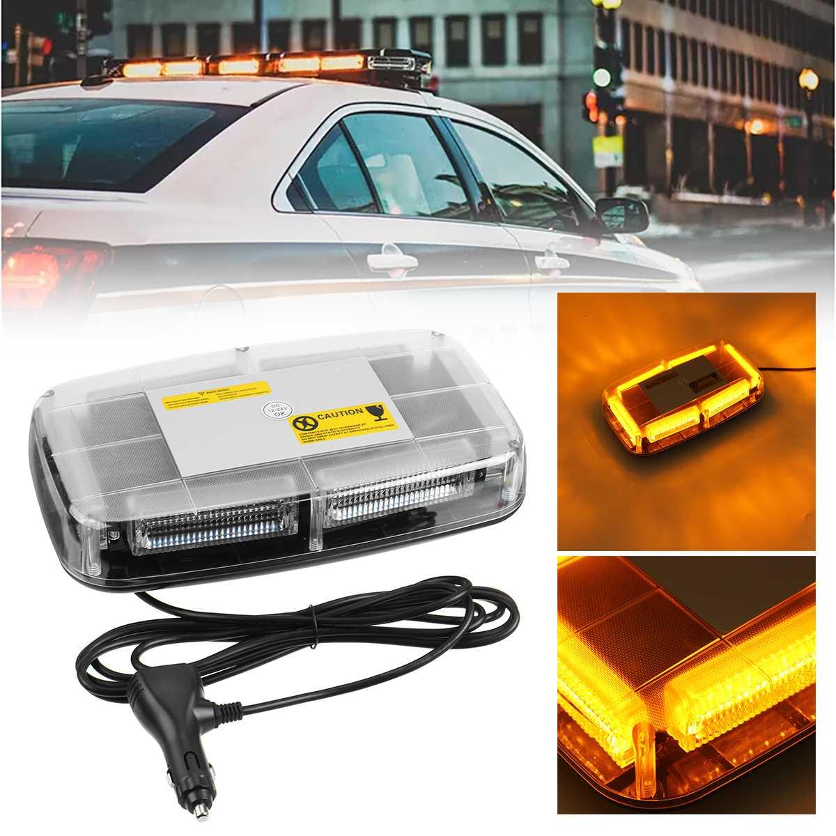 Luz de advertência do estroboscópio do telhado do carro luz de emergência à prova dwaterproof água led piscando luz de segurança magnética dc 12-24 v para o carro do caminhão do trator