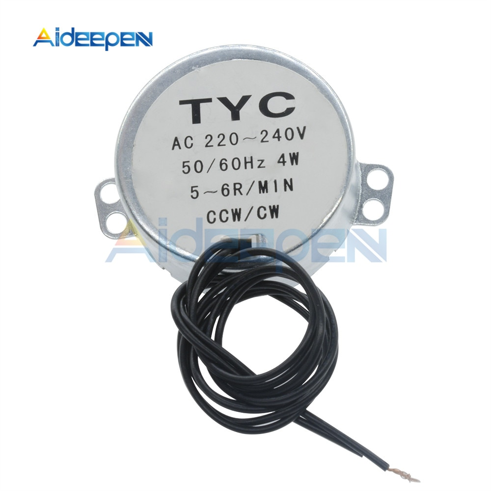 100-127v 220-240v 50/60hz motor síncrono 1.4rpm-60rpm torque robusto 4w TYC-50