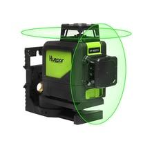 Huepar 902CG 360 niveau Laser 3D auto-nivelant faisceau vert faisceau Laser puissant 3D 5/8/12 lignes niveau laser