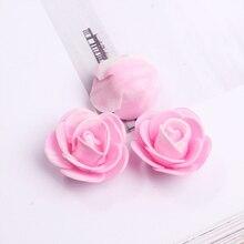 100PCS /bag mini multicolor PE foam rose head artificial rose flower handmade DIY wedding home decor