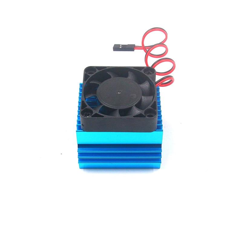 FATJAY 40mm/42mm motor heatsink with 5V high speed cooling fan for brushless diameter inrunner RC 1/8 car motor 4074/4274/1515