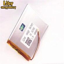 1.0MM 3pin connecteur 357595 4000mah 3.7V li polymère rechargeable au lithium polymère batterie pour tablette pc 7 pouces