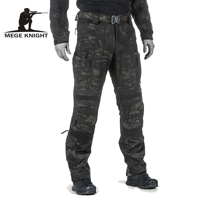 Mege-Pantalones tácticos de combate militar de camuflaje para hombre, ropa de trabajo...