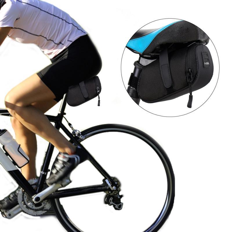 Bolsa para SILLÍN de montar, bolsa impermeable para asiento de bicicleta, bolsa de almacenamiento de parte trasera de bicicleta, equipo profesional para montar en bicicleta, producto en oferta