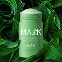 Green Tea Deep Cleansing Mud Mask Oil Control Anti-acne Eggplant Solid Masks Purifying Clay Stick Ma