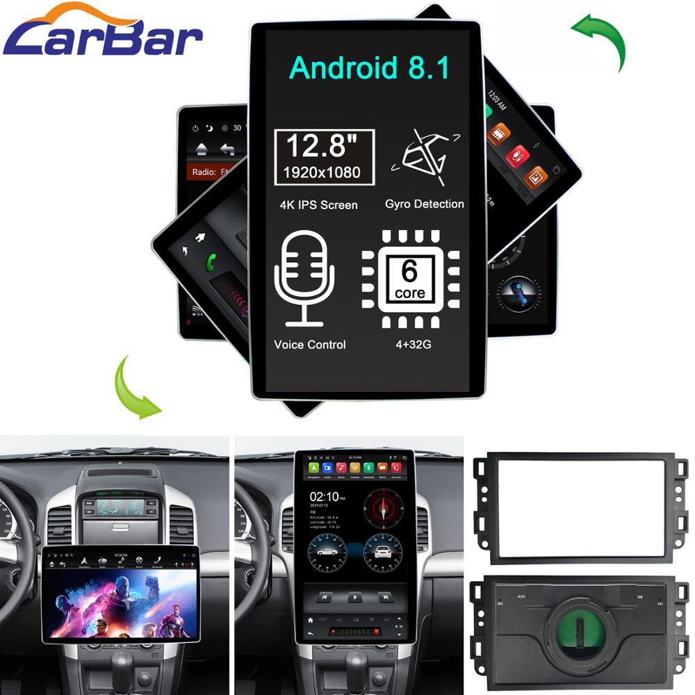 """12,8 """"estilo Tesla rotación IPS pantalla Android 8,1 coche DVD GPS Player Para Chevrolet Captiva Epica Gentra Aveo Lova 2006-2011"""