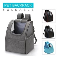 foldable dogs carrier backpack high quality breathable decompressio shock resistant portable pet bags outdoor travel pet package