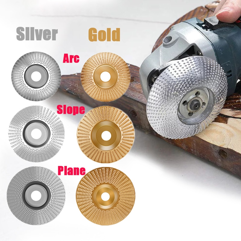3pcs/set Wood Grinding Polishing Wheel Rotary Disc Sanding Wood Carving Tool Abrasive Disc Tools for Angle Grinder 4 Inch Bore