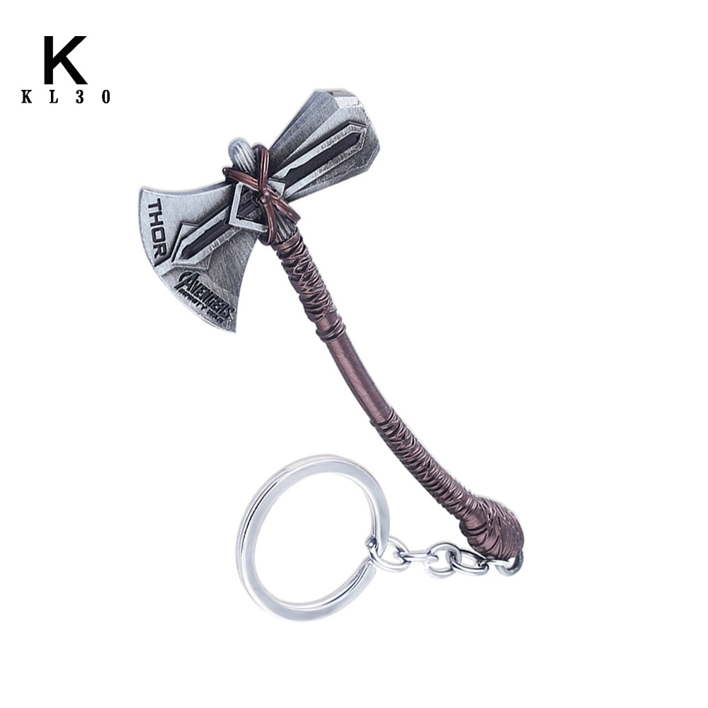 Weapon Stormbreaker Hammer Keychain Man Jewelry Fans Gift Fashion Car Bag Metal Pendant Accessories