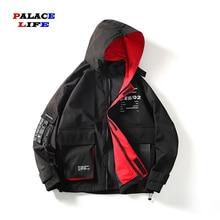 New Buckle pocket Man Hoodie jackets Coat Jacket Men Streetwear Clothest casual printing Hip hop Hooded Coat men