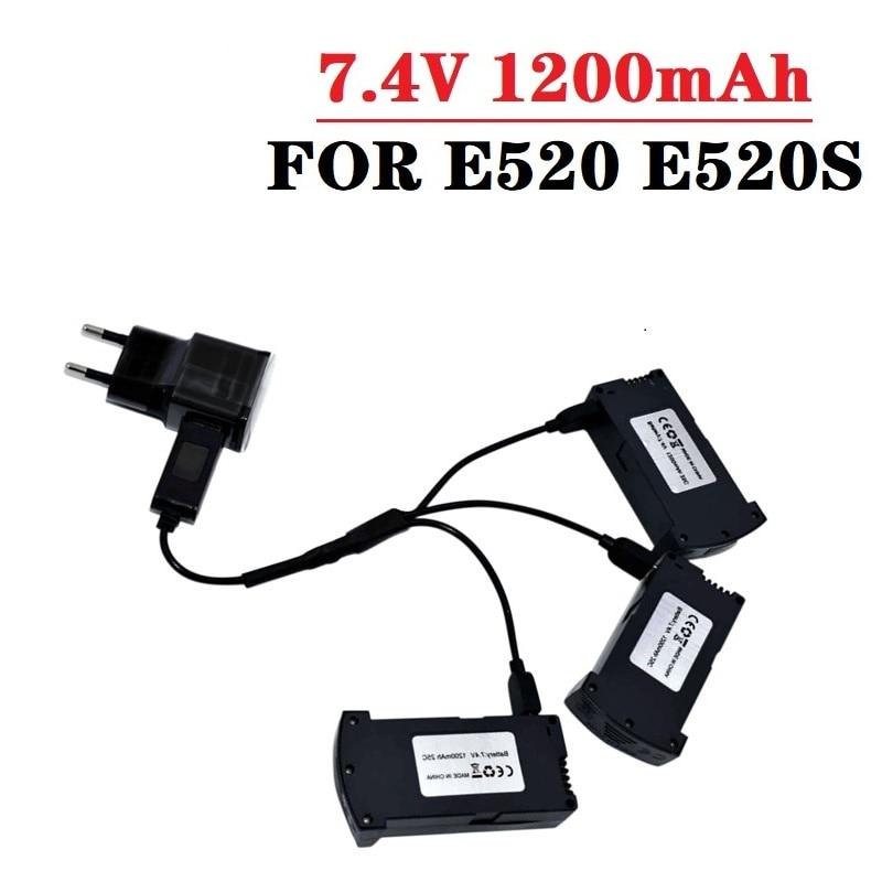 Original 7.4V 1200MAH LiPo Battery For RC E520 E520S RC Quadcopter Spare Parts 1200 mAh 25C 7.4V Dro