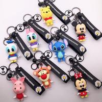 Брелок для ключей Disney Stitch Винни Микки брелок для ключей с мышью милый мультяшный для маленьких мальчиков и девочек брелок для ключей для жен...