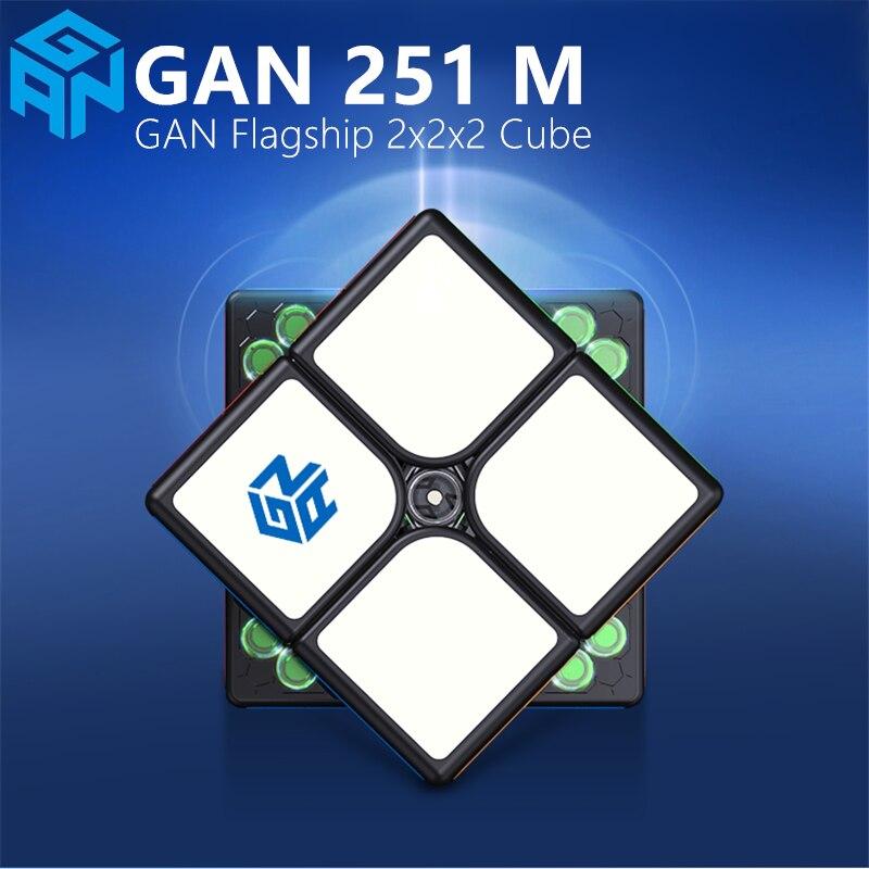 gan251m mangetic 2x2x2 cubo magico stickerless bolso cubo gan251 m imas velocidade