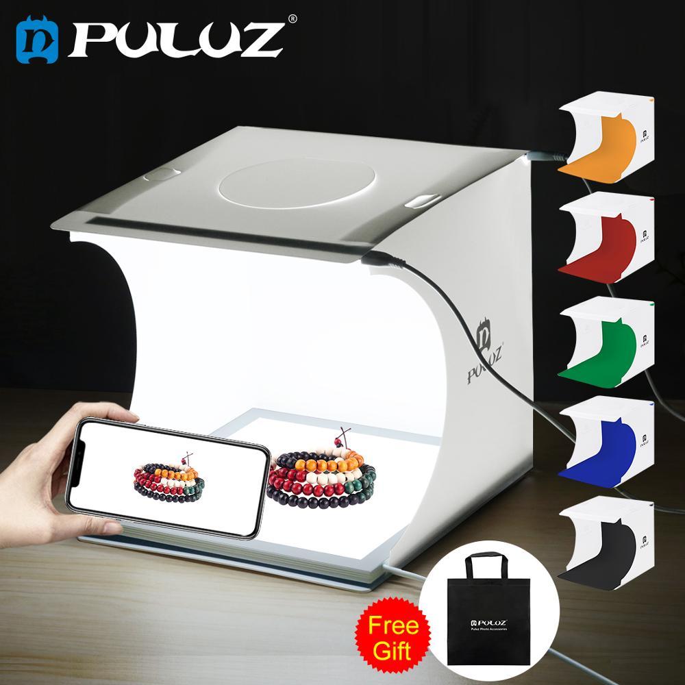 PULUZ Mini 22,5 светодиодная фотография бестеневая Нижняя лампа панель панели + 2LED панели 20 см Лайтбокс для фотостудии палатка коробка