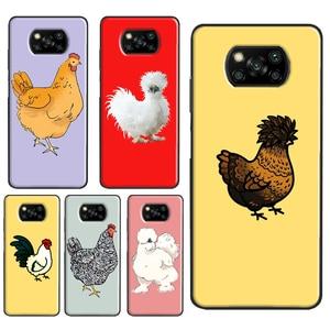 Chubby Chicken Case For POCO X3 NFC F1 F2 Pro Coque For Xiaomi Mi Note 10 Lite Mi 10T Pro 9T 9 A3 Cover