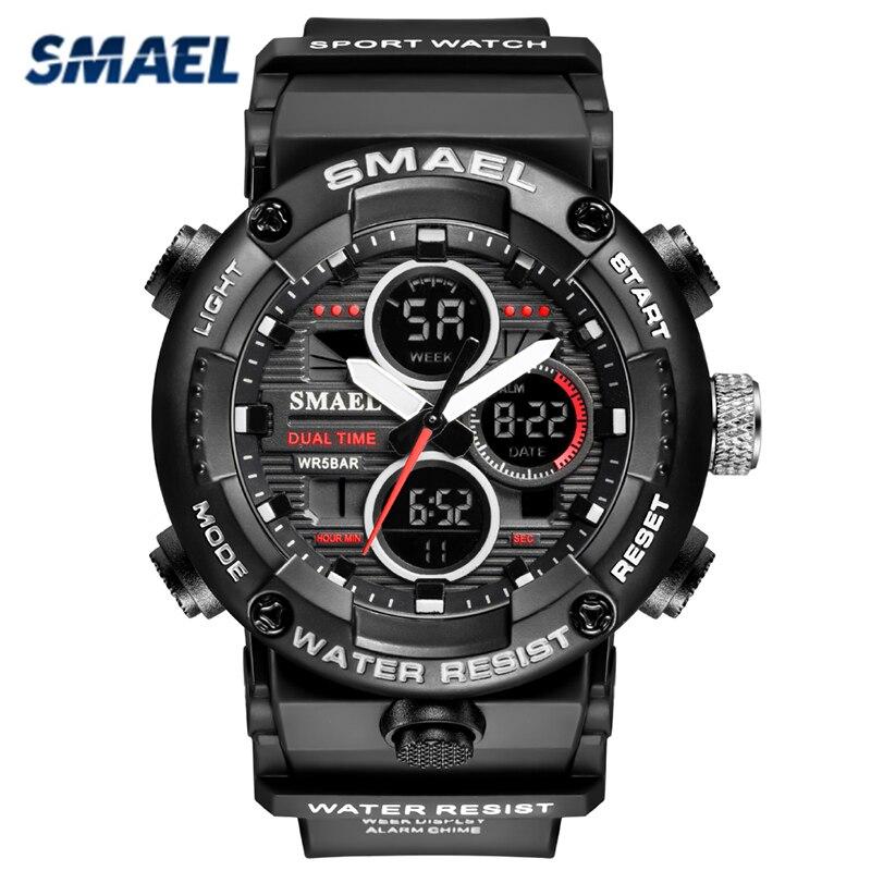 SMAEL Mens Sports Watches Top Brand Luxury Quartz Wirstwatch Men Waterproof Military Date Week Wrist Watch Relojes De Hombre
