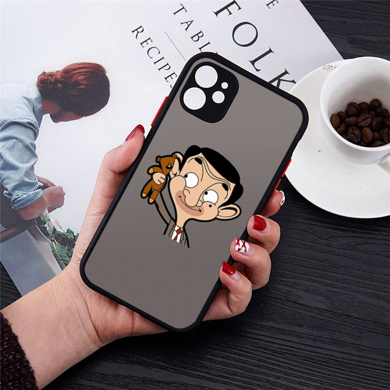 Johnny English Mr. Bean Phone Cases Matte Transparent for iPhone 7 8 11 12 s mini pro X XS XR MAX Plus cover funda shell capa  - buy with discount
