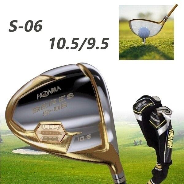 New HONMA Golf Clubs HONMA S-06 4Star Golf Driver 9 5 or 10 5 Loft Club Graphite Golf Shaft Driver Head cover Free Shipping