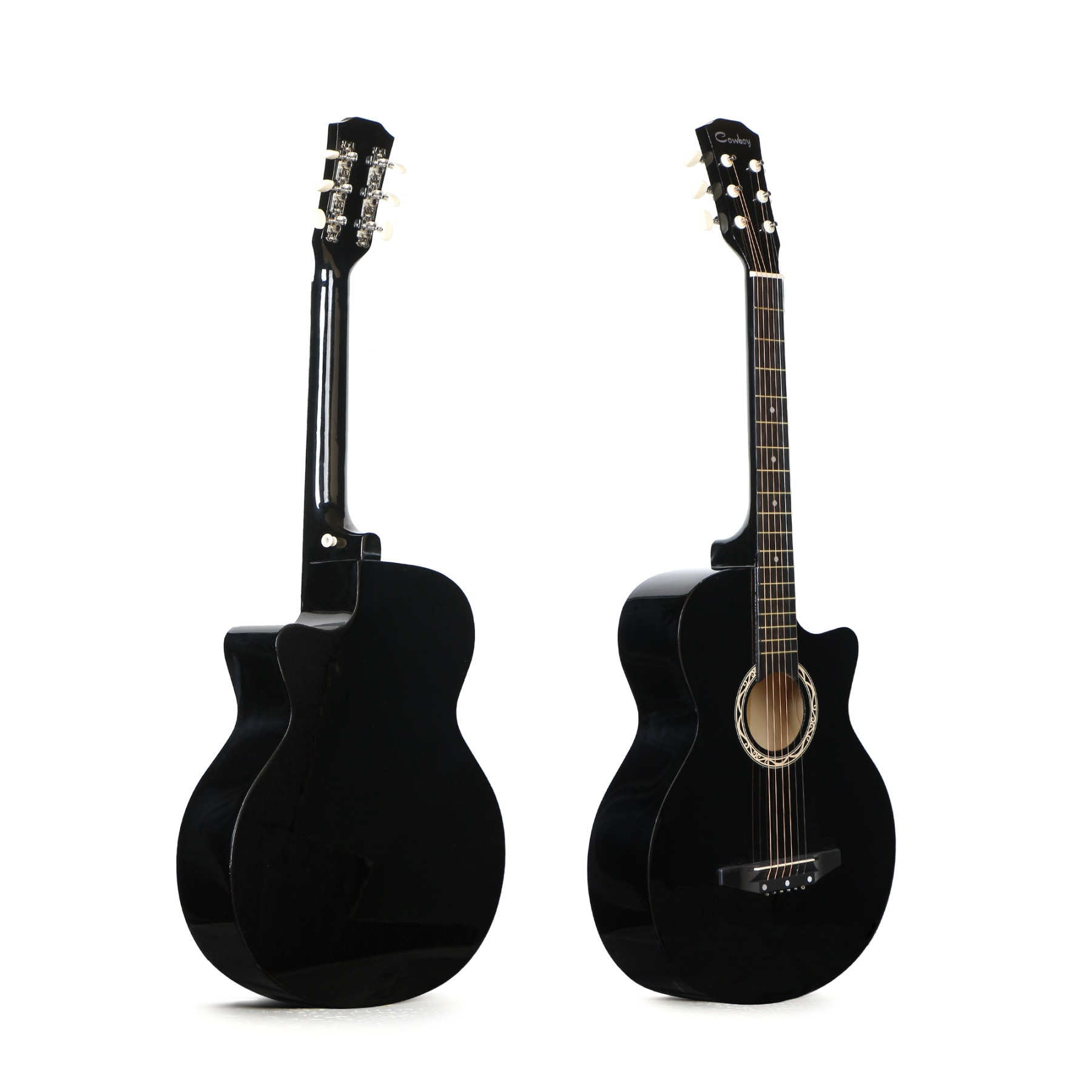 Effect Lead Guitar Tremolo 38 Inch Folk Music Wooden Acoustic Guitar Beginners Instrument Travel Guitare Entertainment HX50JT