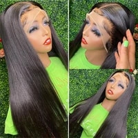 glueless lace wigs long silky straight synthetic lace front wig heat resistant fiber natural black baby hair