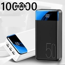 Power Bank 100000mAh Portable Fast Charging PowerBank 3 USB PoverBank External Battery Charger For M