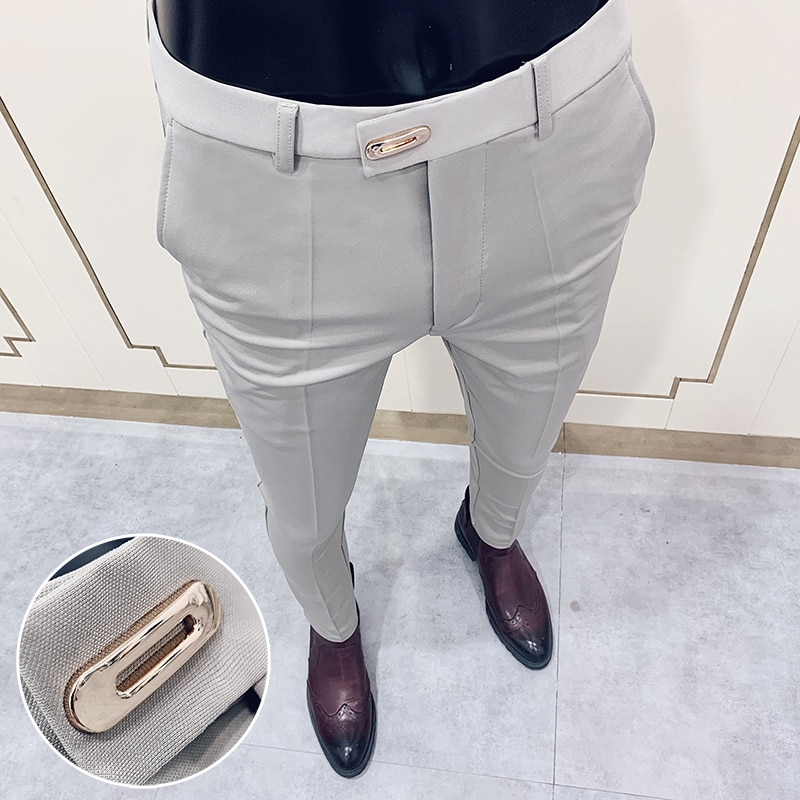 Suit pants spring men's suit pants fashion casual Slim business suit pants men's wedding party work pants classic large size 28-