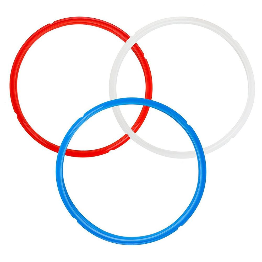 aliexpress.com - 3 Pack Silicone Sealing Ring for Pot Accessories 6 Quart Seal Lasting BPA-Free Blue Red White