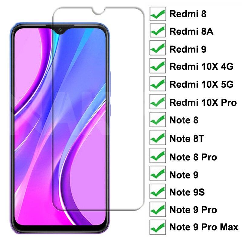 9H الزجاج المقسى ل شاومي Redmi 9 8 8A 10X حامي الشاشة الزجاج Redmi 10X نوت 8 8T 9S 9 برو ماكس السلامة واقية الزجاج
