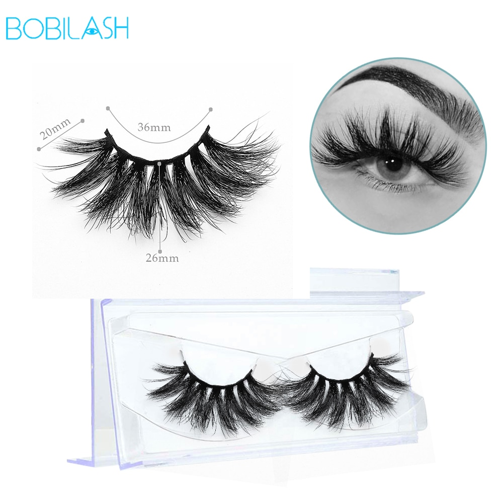 BOBILASH 1Pair 3D Mink Lashes 100% Cruelty Free Natural Thick Long Comfortable False Eyelashes For E