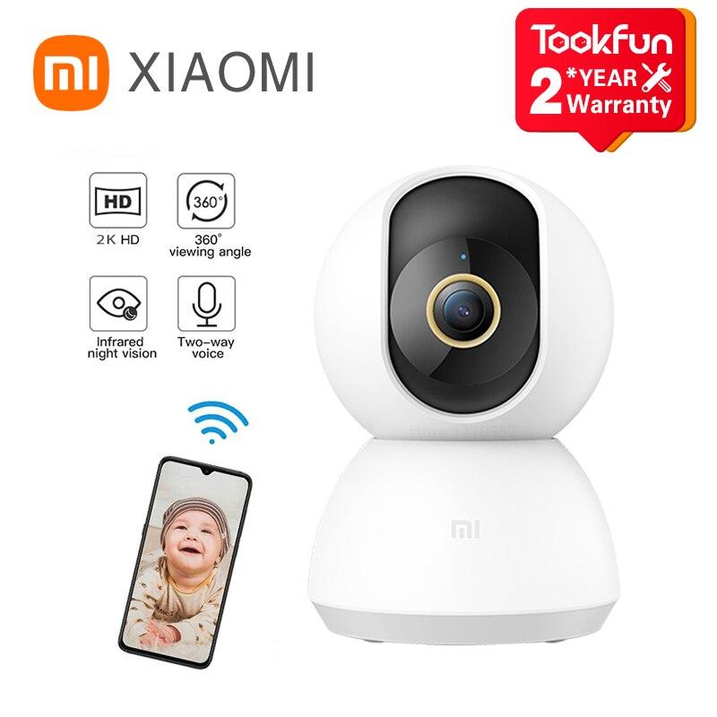كاميرا شاومي Mijia 1296P Ultra HD 2K IP الذكية, واي فاي ، إمالة ، رؤية ليلية ، زاوية 360 درجة ، كاميرا فيديو ويب ، مراقبة سلامة الطفل