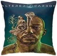 altered carbon square pillowcase case throw decorationpillow car cushion 45cmx45cm