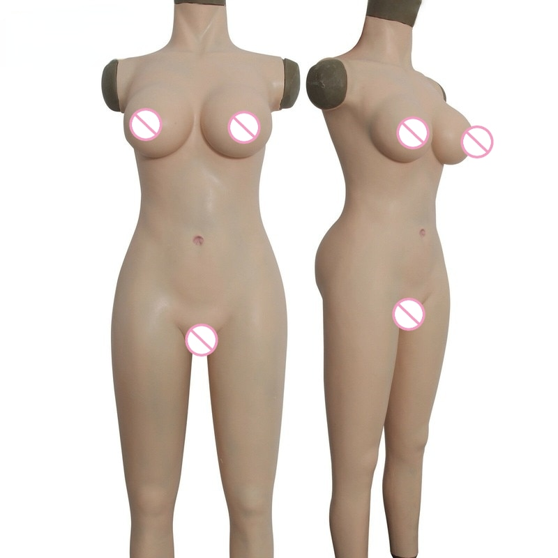 Full Body Silicone Casual Dresser The Whole Suit Breast Form Vaginal Transvestite for Transvestite Queen