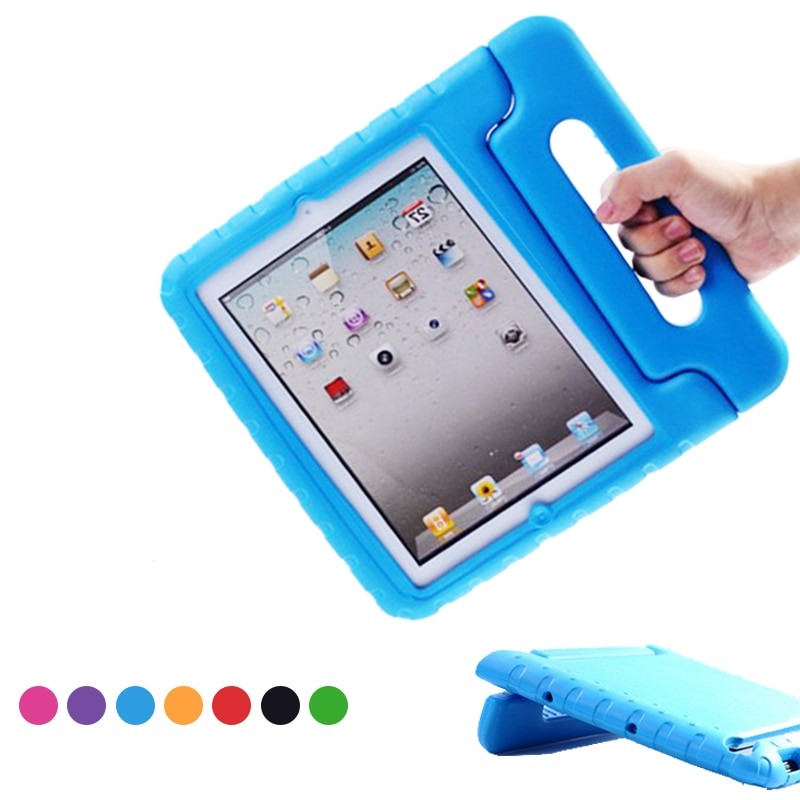 For Apple Ipad 2 3 4 Case Kids Shockproof EVA Cover for Ipad 2 Ipad 4 Portable Handle Stand Holder C