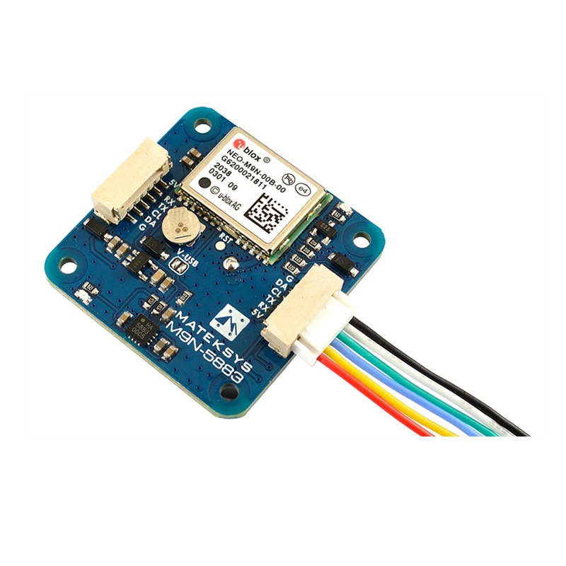 Matek Systems GNSS M9N-5883 UBLOX NEO-M9N GPS Module With Magnetic Compass QMC5883L Support GLONASS Galileo Beidou for RC Drone