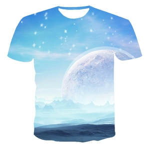 2021 New Summer Unisex 3D Print Galaxy Star Star Star Fashion Cool Short Sleeve T-Shirt
