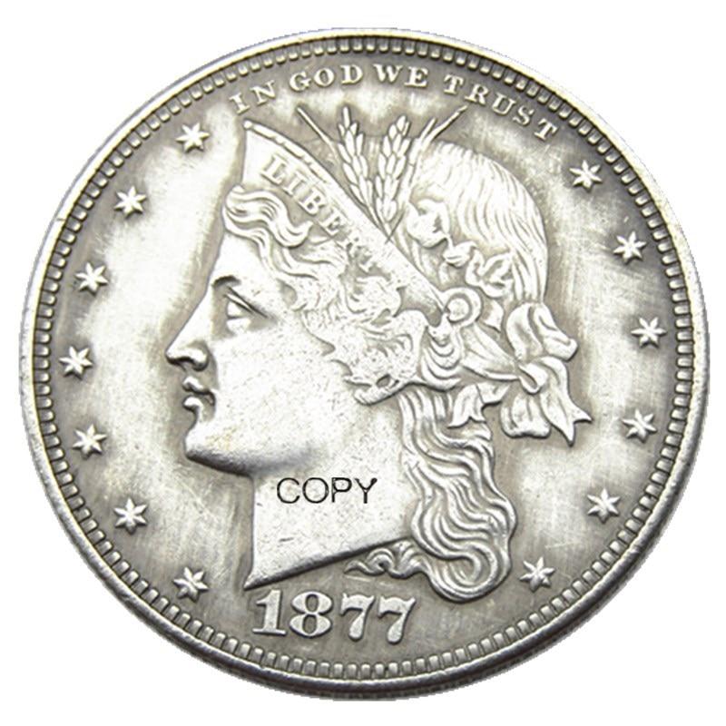 USA 1877 Cornet Head Half Dollar Patterns Silver Plated Copy Coin