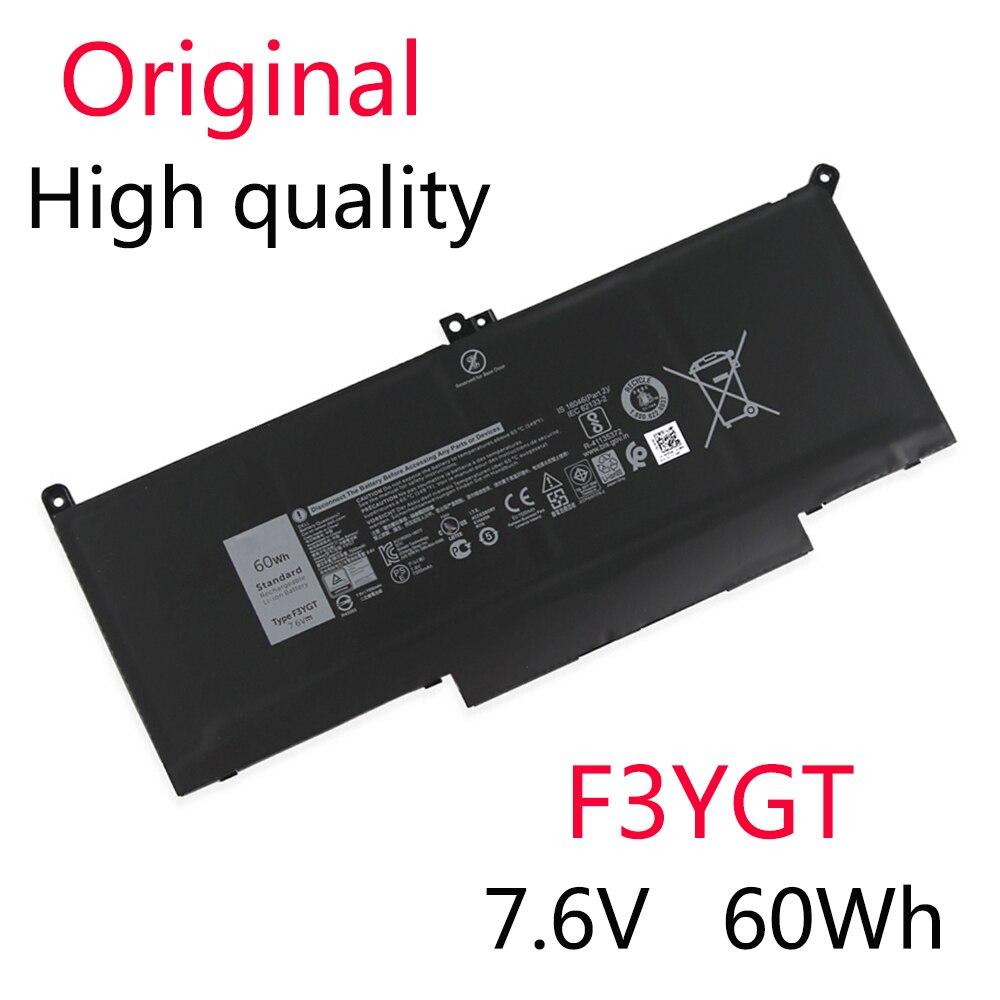 F3YGT الأصلي جديد بطارية لديل خط العرض 7390 7280 7480 DM3WC 0DM3WC 2X39G 60Wh 7.6V