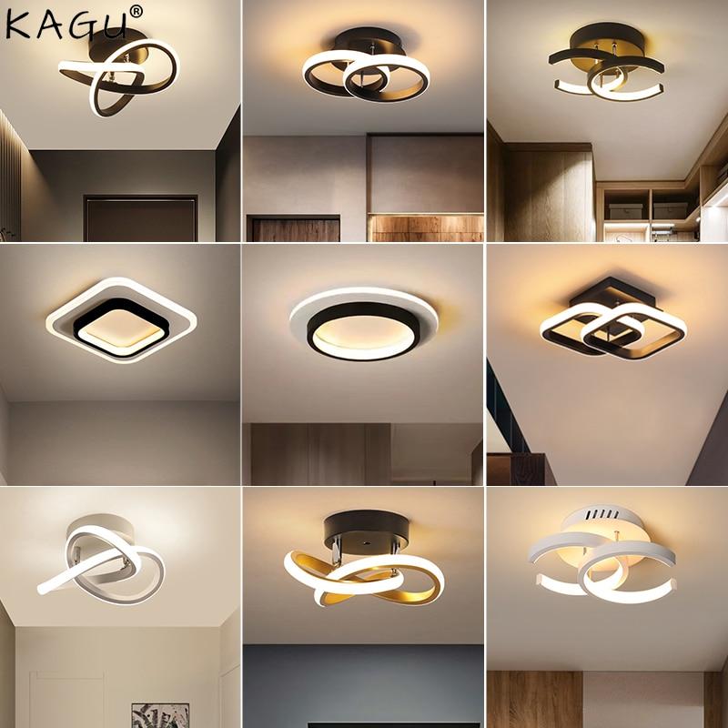 مصابيح سقف LED حديثة للممر ، إضاءة منزلية ، مثبتة على السطح لغرفة النوم ، غرفة المعيشة ، المدخل ، الشرفة