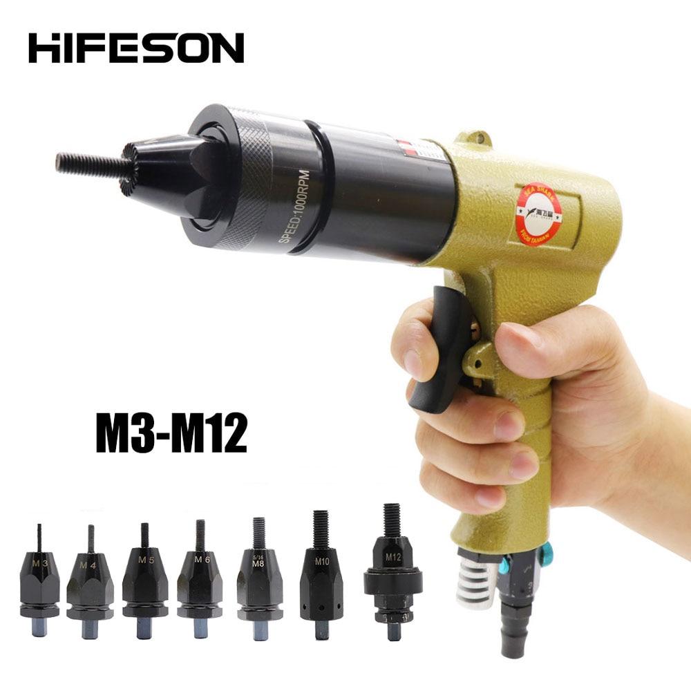HIFESON هوائي جوزة برْشام بندقية إدراج الخيوط سحب اضع المبرشم المكسرات ريفنوت أداة ل M3 M4 M5 M6 M8 M10 M12
