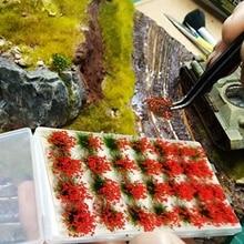 DIY Model Building Kits Artificial Grass Flower Petal Garden Lawn Micro Landscape Decor Accessories Sandbox Game