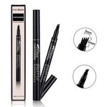 MB crayon à sourcils liquide 4 têtes 5 couleurs maquillage imperméable naturel professionnel maquillage yeux sourcils teinte stylo