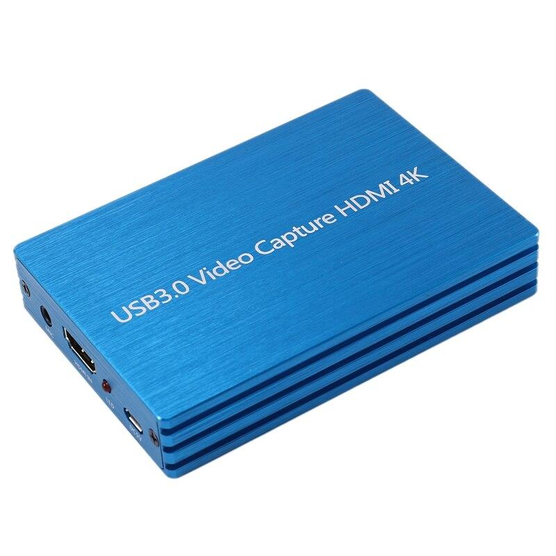 دونجل 4K HDMI إلى USB 3.0 1080P ، بطاقة التقاط الفيديو لألعاب OBS الحية ، التوصيل والتشغيل ، بدون برامج تشغيل