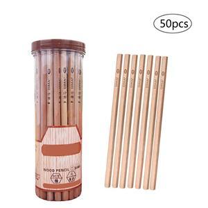 50 Pcs/lot HB Pencils Environment-friendly Non-toxic Graphite Pencils Students Stationery Supplies