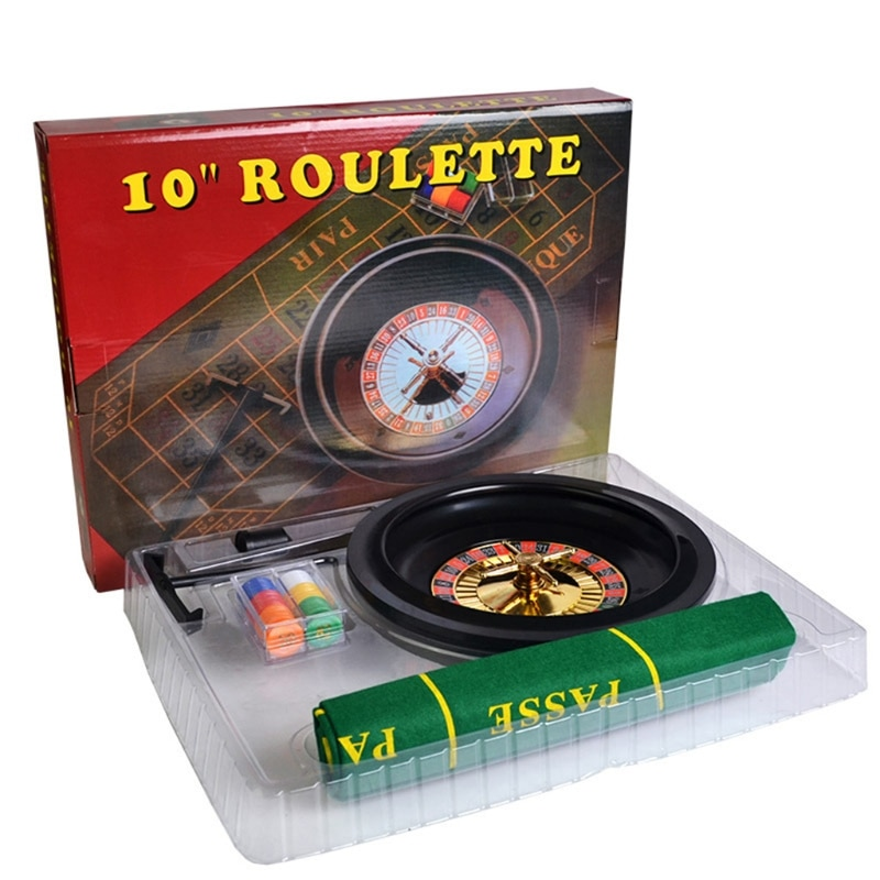 10-дюймовая рулетка, набор игр, рулетка для казино, рулетка с настольной тканью, покерные чипы для бара, KTV, вечеринки, игра Borad-0