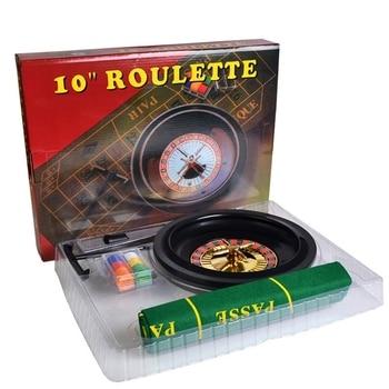 10-дюймовая рулетка, набор игр, рулетка для казино, рулетка с настольной тканью, покерные чипы для бара, KTV, вечеринки, игра Borad