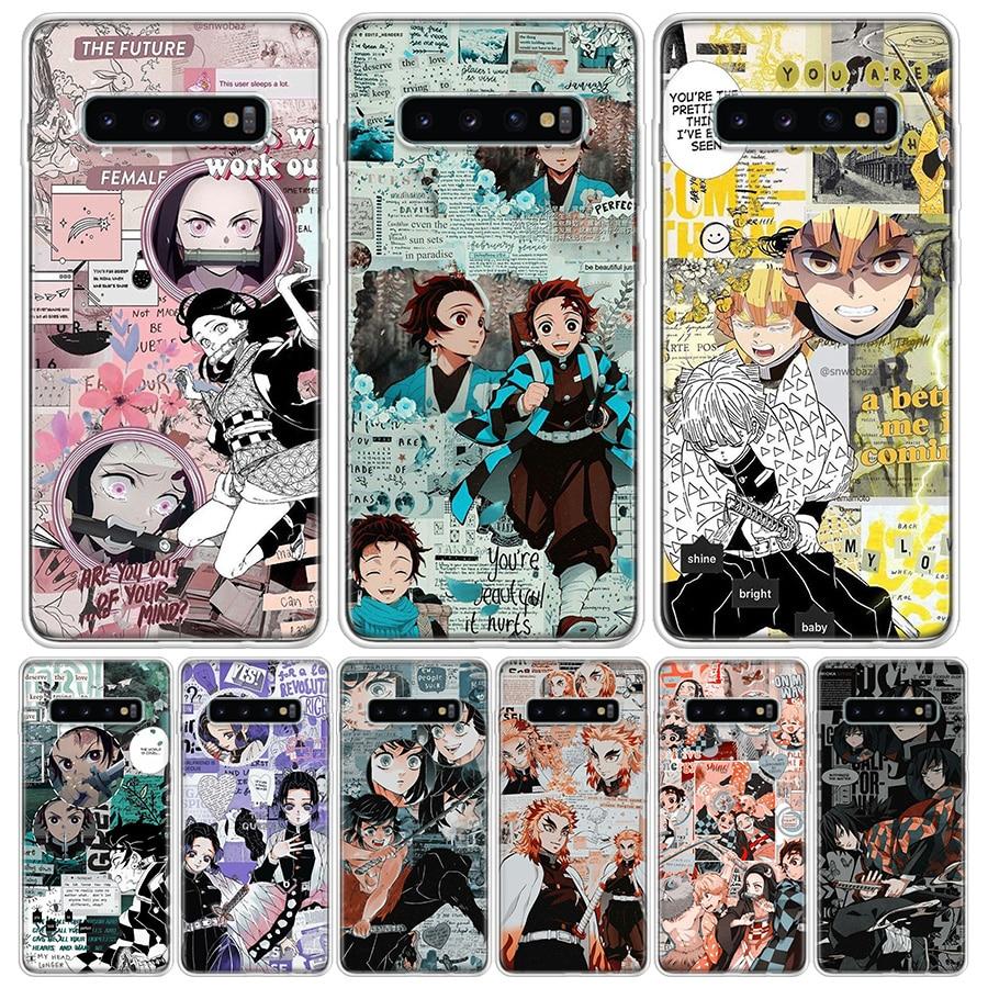 Kimetsu No Yaiba Demon Slayer Anime Phone Case For Samsung Galaxy S10 S20 Ultra Lite Note 10 9 8 S9