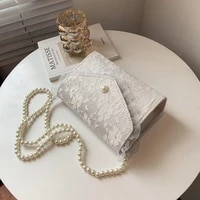 2021 new bag for women lace square bag fashion chain cross body bag