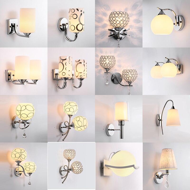 Chrom-مصباح جداري حديث ، مصباح بجانب السرير ، غرفة نوم ، chrom شمالي ، E27 ، 85-285 فولت