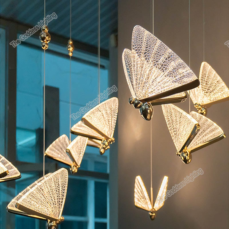 Festoon LED lámparas colgantes de techo lámparas interiores vertigo para decoración del hogar decoración de la cocina Bar sala de estar accesorio iluminador