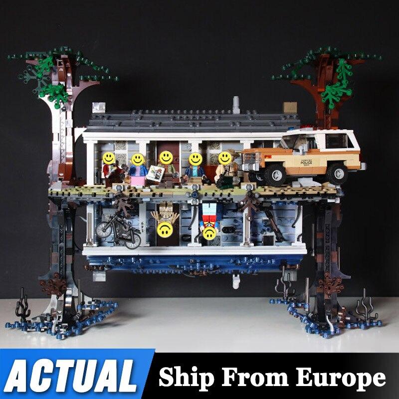 DHL, 2522 шт, странные вещи, перевернутый мир, строительные блоки, набор совместимых Lepinblocks 75810, рождественский подарок